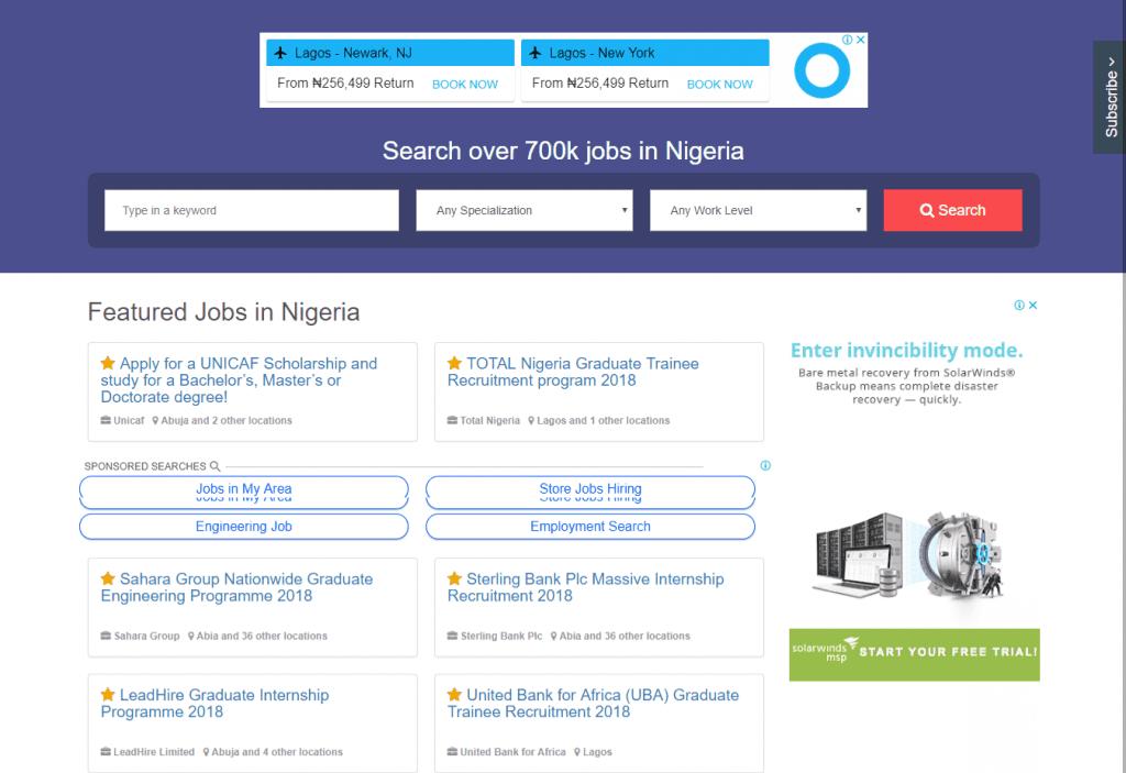 Jobgurus Nigeria Job Website