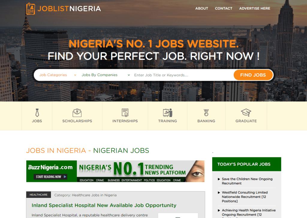 Joblist Nigeria Job Website