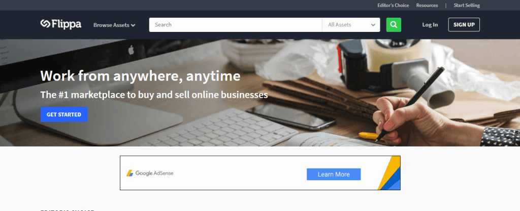 Legitimate work from Home Jobs-Sell Blogs on Flippa