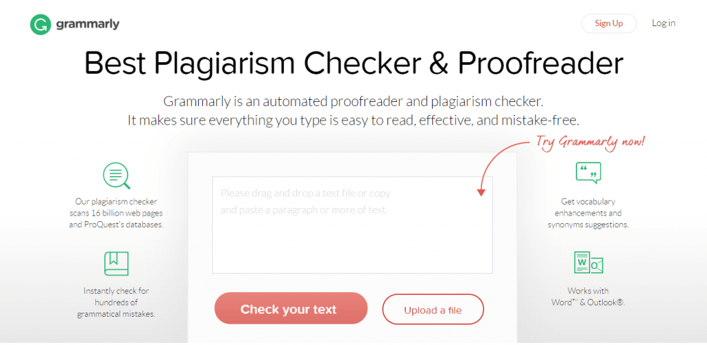 The best free Plagiarism Checker- Grammarly