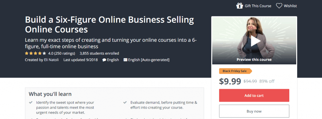 Build a Six Figure Online Business Selling Online Courses Udemy
