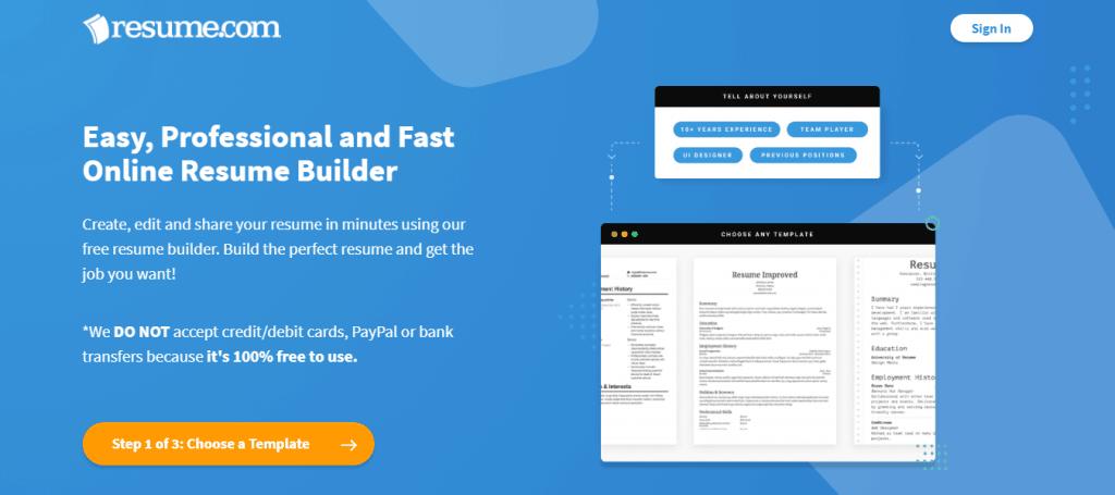 Easy Resume Builder Free Résumés to Create Download