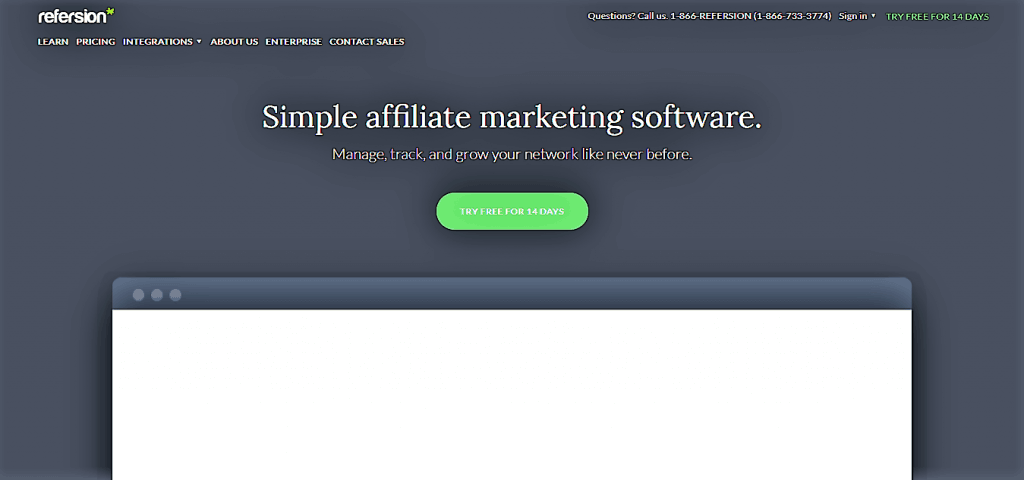 Refersion Affiliate Monitoring Software